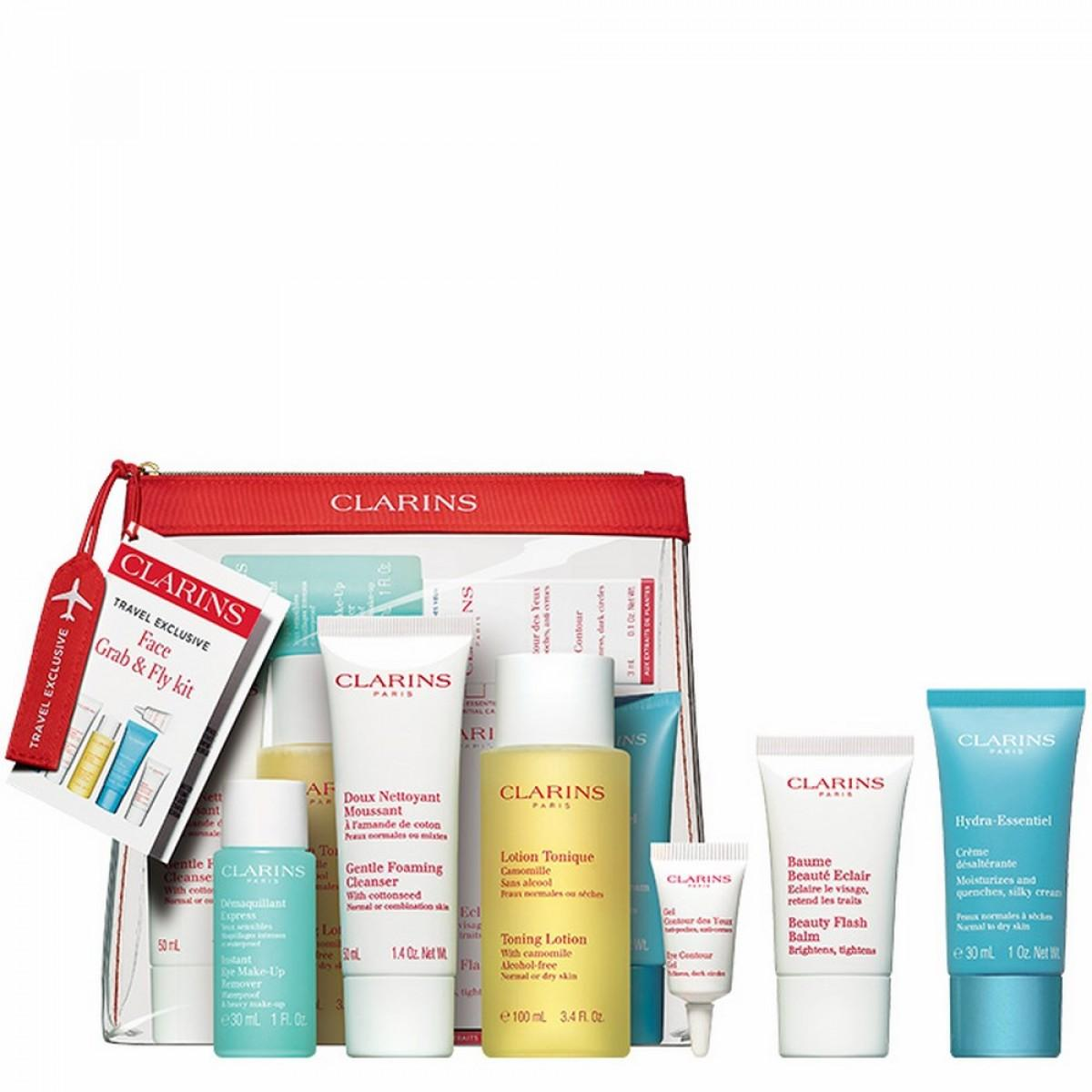 Face Grab Fly Kit Aelia Duty Free Clarins Hydraquench Cream Gel Normal To Combination Skin 15ml