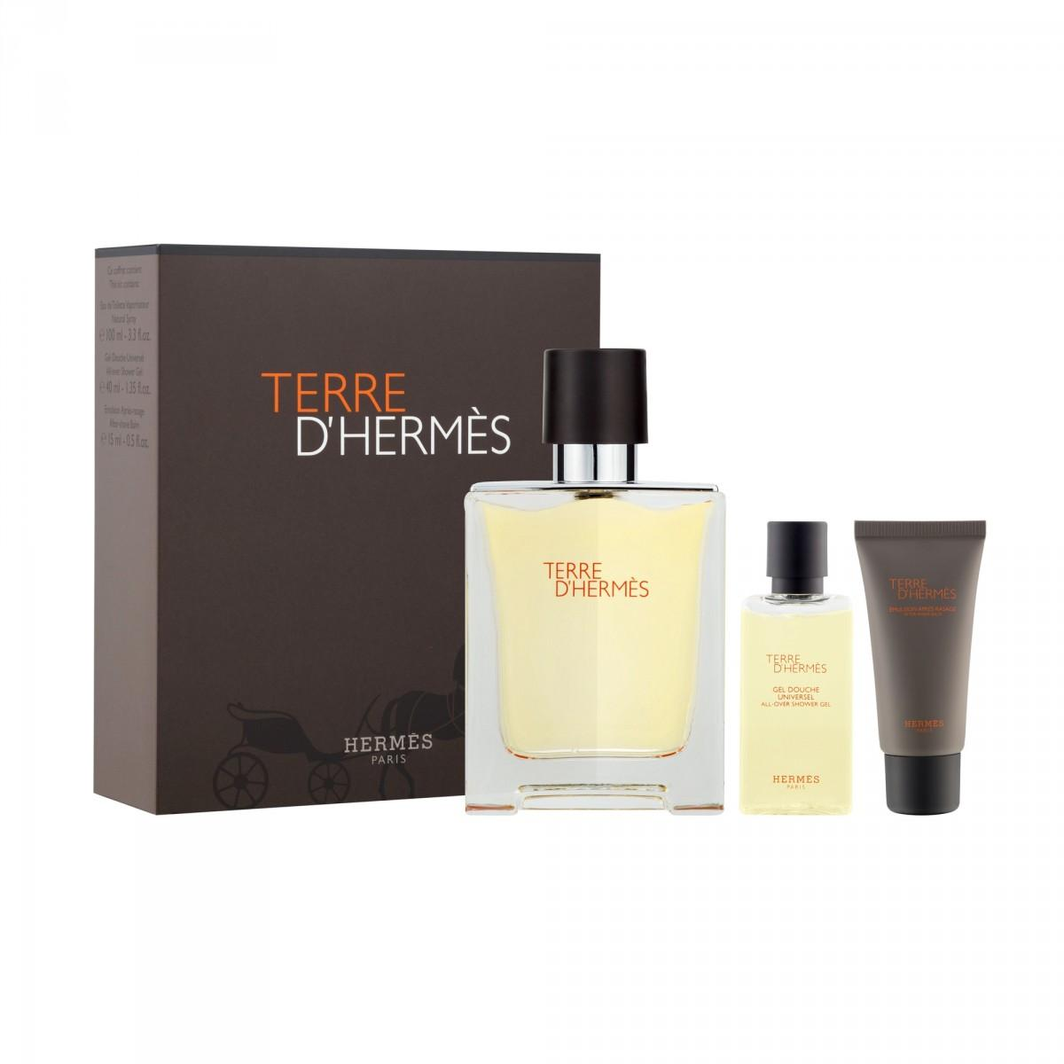 844b5a569ab Set Terre d Hermès Eau de Toilette 100 ML + Shower Gel + Surprise ...